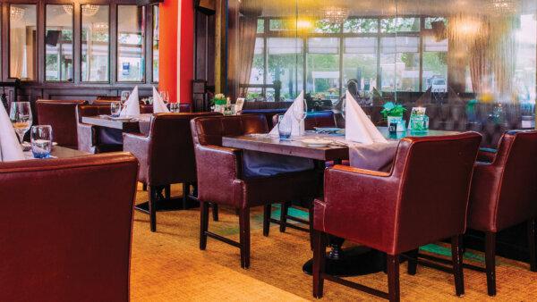 Restaurant in Hotel Arneville in Middelburg.