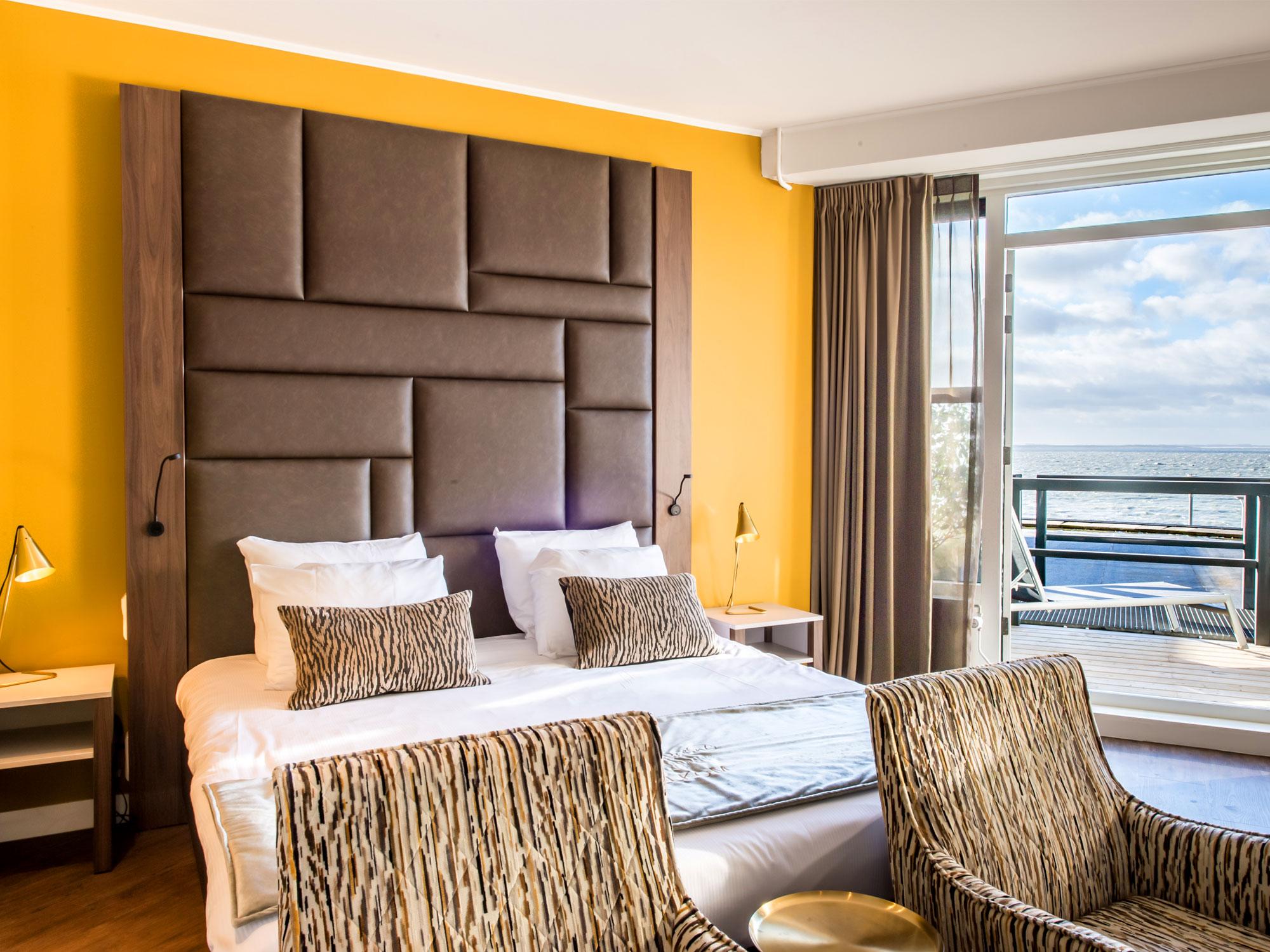 Hotelkamer in het Arion Hotel in Vlissingen.