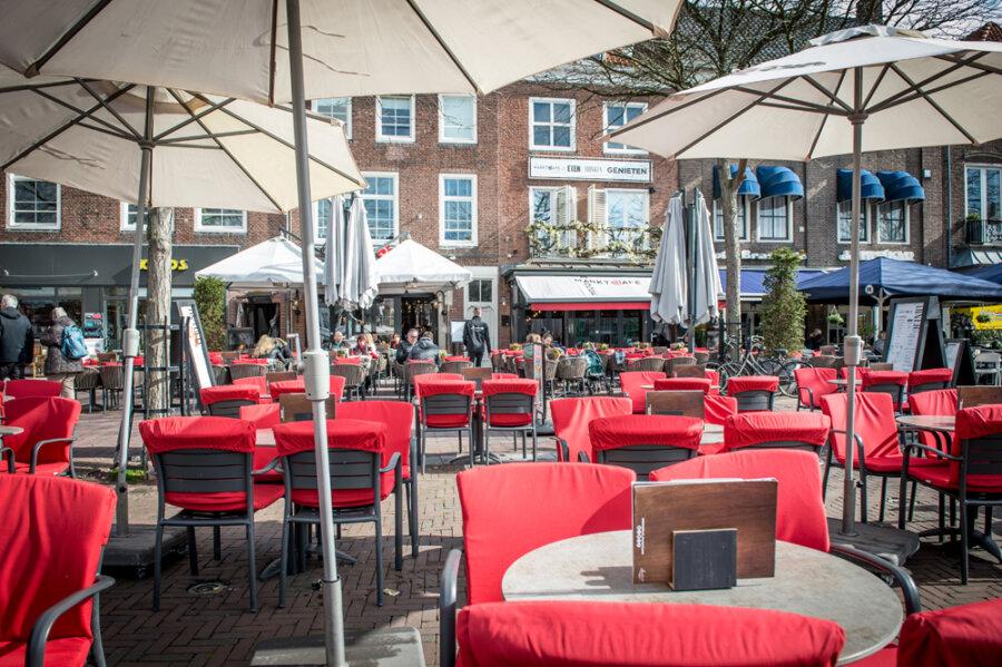 Marktcafe Terras op de Markt Middelburg