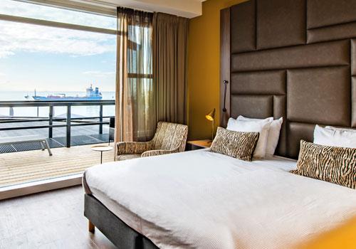 Arion Hotel kamer met uitzicht op zee in Vlissingen.