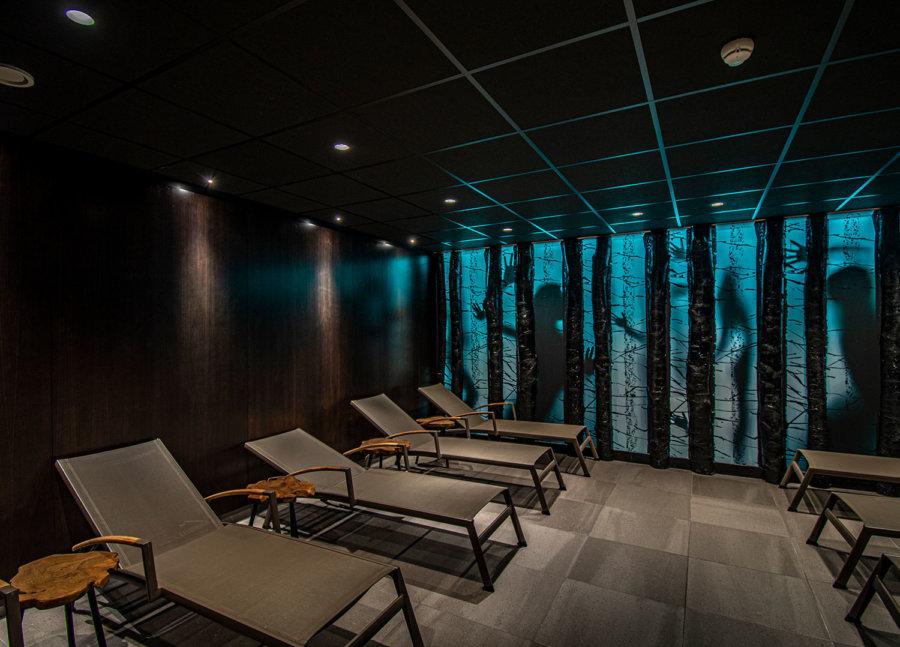 Relaxruimte in de wellness van A-Thermen Zeeland.