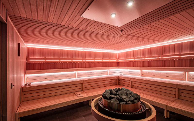 Sauna in de wellness van A-Thermen Zeeland.